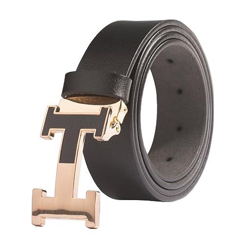 73f8d65e5 1. Men's Geniune Leather Belt Slide Metal Buckle Adjustable Waistband 35MM