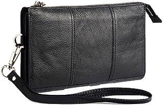 DFV mobile - Exclusive Genuine Leather Case New Design Handbag for Nokia C2-01 phone - Black