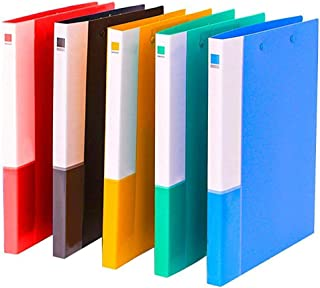 MyLifeUNIT Plastic Pocket Folder, Colored File Folder with Double Strong Clips, 5 Pack