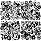 250 Pieces Gothic Stickers for Water Bottle, Black White Gothic Stickers Vinyl Punk Gothic Stickers Horror Gothic Decals Waterproof Sticker Pack for Laptop Notebook Skateboard