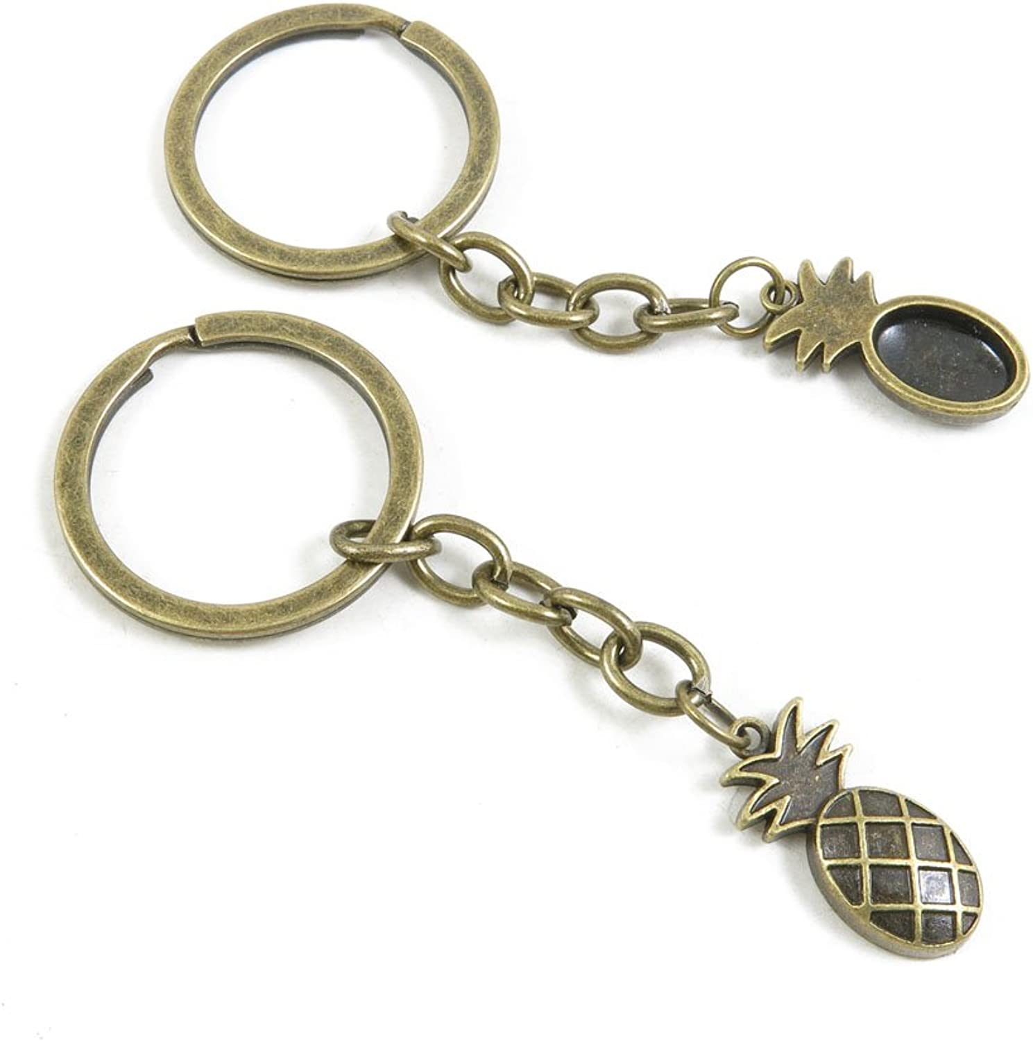 190 Pieces Fashion Jewelry Keyring Keychain Door Car Key Tag Ring Chain Supplier Supply Wholesale Bulk Lots Q6WH8 Pineapple