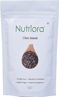 Nutriora Raw Chia Seeds, 200g (Pack of 2)