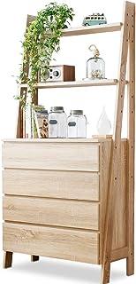 LOWYA ロウヤ キッチン キッチン収納 食器棚 カップボード オープン棚 チェスト ナチュラル