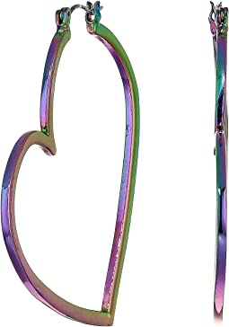 Abstract Heart Hoop Earrings