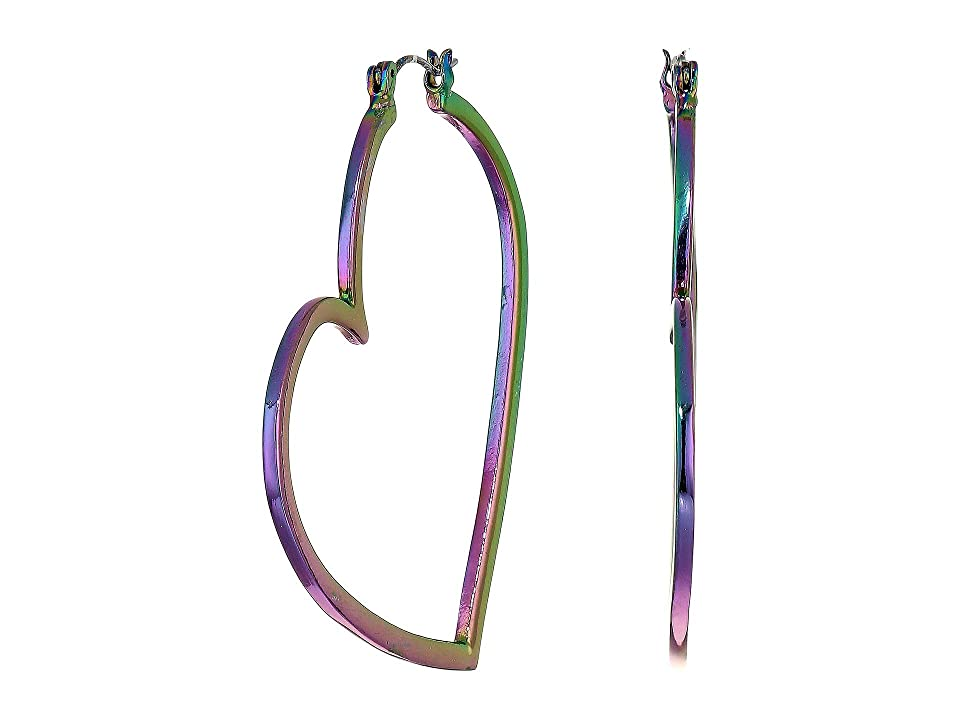 Betsey Johnson - Betsey Johnson Abstract Heart Hoop Earrings