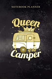 Notebook Planner Queen of the Camper Women s RV Camping Van Trailer Camp: 114 Pages, Simple, Book, Cute, Business, Diary, ...