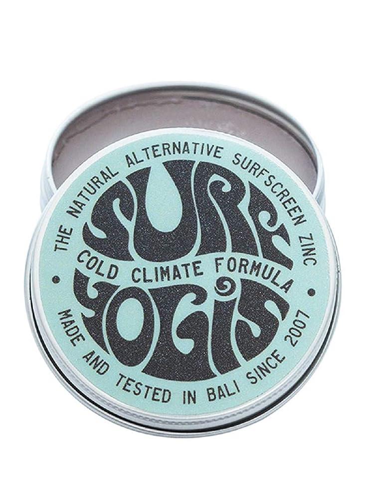 ガチョウ防止時間厳守SURF YOGIS(サーフヨギ) ナチュラルサーフスクリーン COLD CLIMATE FORMULA フォーミュラ 冬用 柔らかめ 日焼け止め オーガニック素材 60g SPF50 ノンケミカル