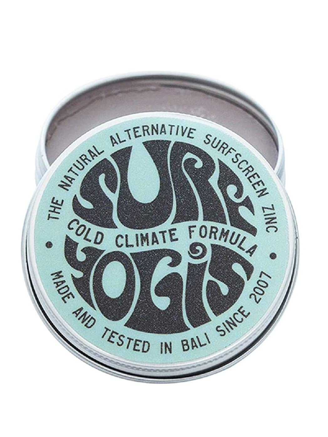 領事館破壊するスクラッチSURF YOGIS(サーフヨギ) ナチュラルサーフスクリーン COLD CLIMATE FORMULA フォーミュラ 冬用 柔らかめ 日焼け止め オーガニック素材 60g SPF50 ノンケミカル