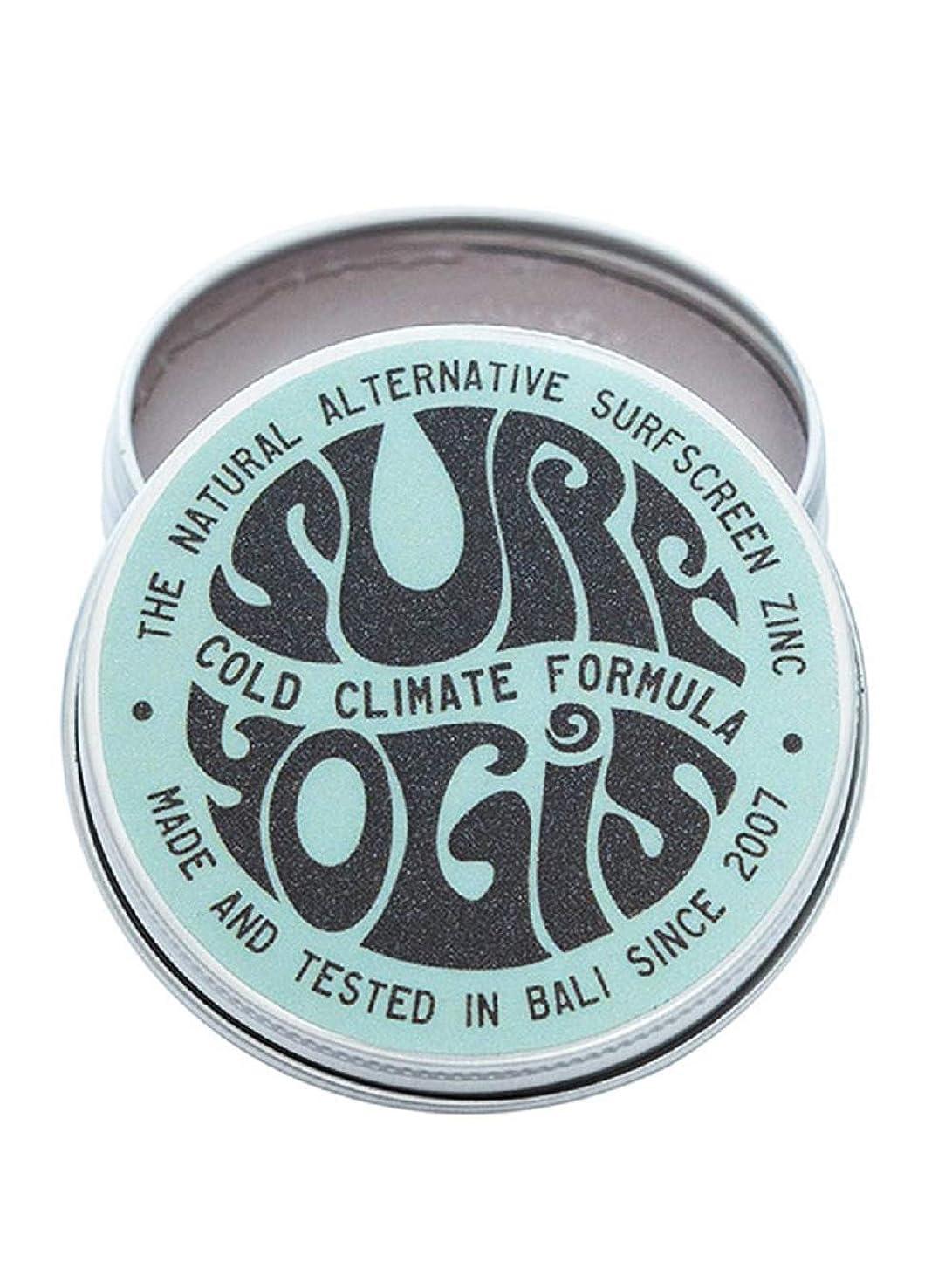 できたトンネル合図SURF YOGIS(サーフヨギ) ナチュラルサーフスクリーン COLD CLIMATE FORMULA フォーミュラ 冬用 柔らかめ 日焼け止め オーガニック素材 60g SPF50 ノンケミカル