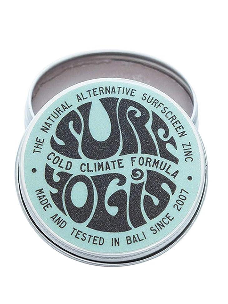 水族館アナロジーくすぐったいSURF YOGIS(サーフヨギ) ナチュラルサーフスクリーン COLD CLIMATE FORMULA フォーミュラ 冬用 柔らかめ 日焼け止め オーガニック素材 60g SPF50 ノンケミカル