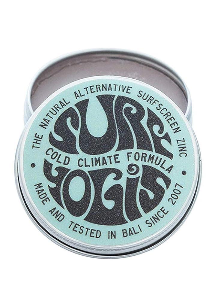 集計関係ない高揚したSURF YOGIS(サーフヨギ) ナチュラルサーフスクリーン COLD CLIMATE FORMULA フォーミュラ 冬用 柔らかめ 日焼け止め オーガニック素材 60g SPF50 ノンケミカル