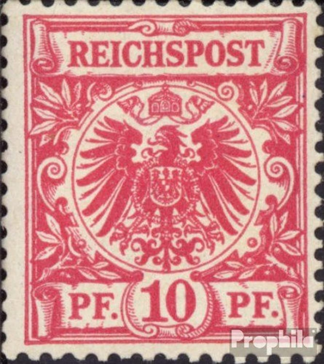 German Empire 47aa tested 1889 Drawing numbers Imperial Eagle (Stamps for collectors)