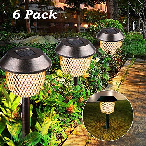 Lámpara solar para jardín, Tencoz LED Luz de la antorcha solar IP44...