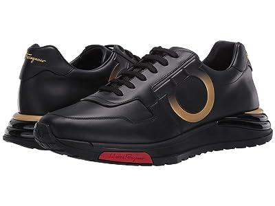 Salvatore Ferragamo Brooklyn Chi Sneaker (Black/Gold) Men
