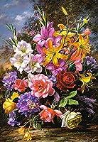 Diyデジタル絵画ダイヤモンドフレームレスダイヤモンド絵画花の風景花瓶クロスステッチダイヤモンド刺繡モザイク家の装飾、40x50cm