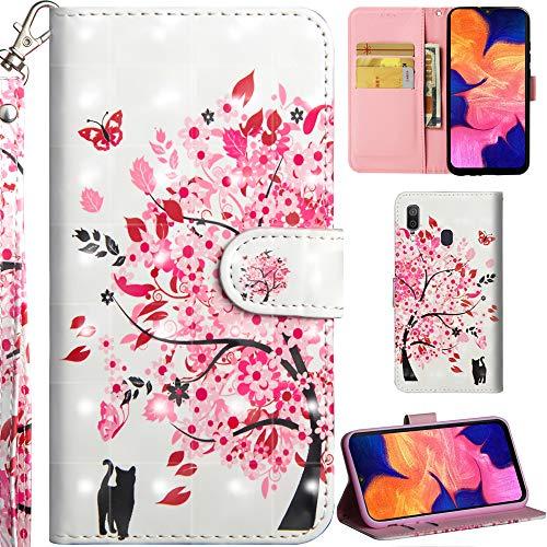 Ooboom Nokia 5.1 Plus Custodia 3D Cover Flip Folio in Pelle PU Cuoio Case Slot per Schede Cinturino da Polso Chiusura Magnetica per Nokia 5.1 Plus - Gatto Tigre
