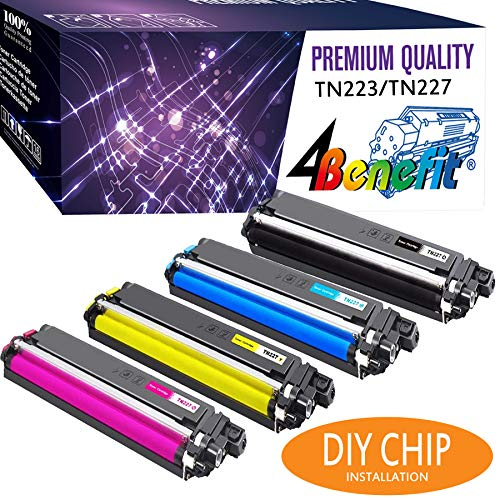 4Benefit Compatible Toner Cartridge Replacement for Brother HL L3290CDW TN227 TN-227 TN227bk TN223 TN-223 Printer (4-Pack) -  4B-BR-L3290CDW-1-TN223setNoChip-50