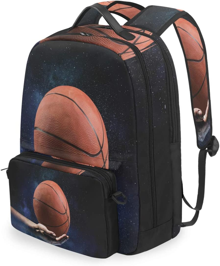 AUUXVA Max 54% OFF Backpack Detachable Sport Ball Laptop C Limited price Galaxy Basketball