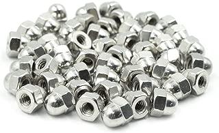 TUOREN #10-24 Stainless Steel Acorn Cap Nuts,Plain Finish 50Pcs