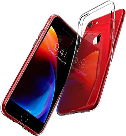 Spigen Coque iPhone 8, Coque iPhone 7, [Liquid Crystal] Ultra Mince Premium TPU Silicone [Crystal Clear] Premium Transparent/Exact Fit/NO Bulkiness Souple Coque Compatible avec iPhone 8/7