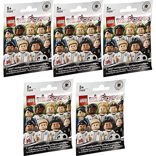 Lego® Minifigures 71014 - Deutsche Nationalmannschaft - Set aus 5 Überraschungs-Tüten (Inhalt zufällig, ohne Vorauswahl)