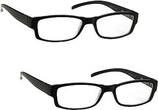 comprar comparacion The Reading Glasses Company Gafas De Lectura Negro Ligero Cómodo Lectores Valor Pack 2 Estilo Diseñador Hombres Mujeres Uv...