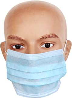 Surgical, Dust and Pollution Mask,Face Mask, Medium Size (Blue) - Pack of 5