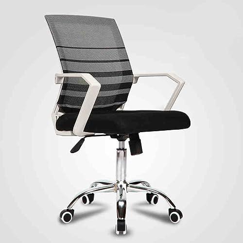 Soucravaten lombaire de chaise de bureau d'ordinateur de bureau de pivoteHommest de maille de chaise de bureau avec des bras, noir