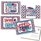 Happy 4th of July Independence Day Themed Blank Postcards To Send To Friends & Family, 4'x6' Fill In Notecards (4 Different Designs) by AmandaCreation (20)