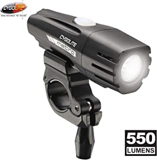 Cygolite Metro– 550 Lumen Bike Light– 4 Night Modes & Daytime Flash Mode– Compact & Durable– IP67 Waterproof– Secured Hard Mount– USB Rechargeable Headlight– for Road & Commuter Bicycles