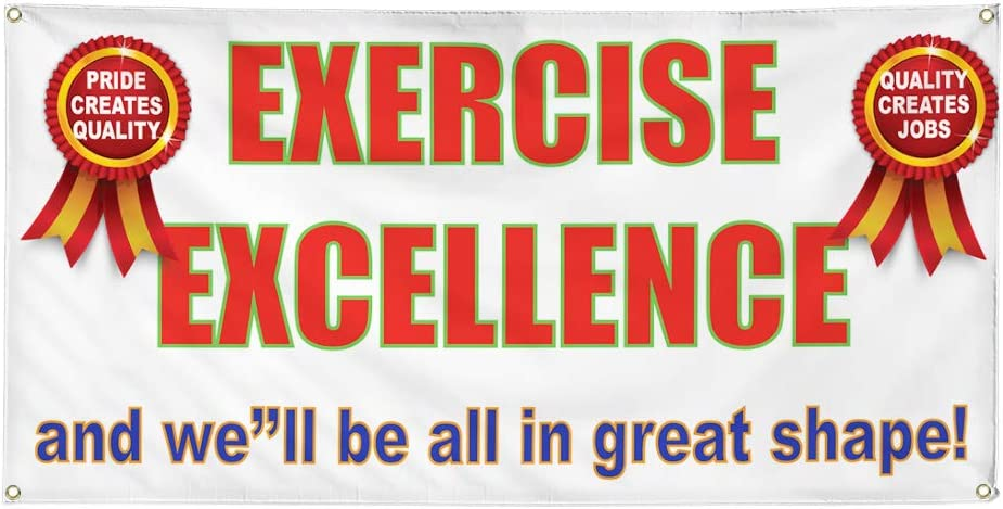 Max 87% OFF Vinyl Popular brand in the world Banner Multiple Sizes Exercise Sha Great Excellence All in