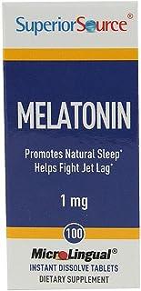 Superior Source Melatonin - 1 mg - 100 MicroLingual Tablets