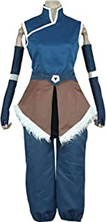Anime Korra Cosplay Costume Blue Outfit Halloween