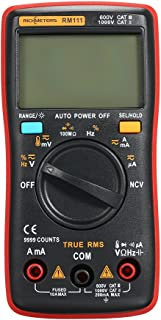 Bundle of 2, KKmoon RICHMETERS RM111 NCV True-RMS Digital Multimeter Auto Range 9999 counts Temperature Back light AC/DC V...