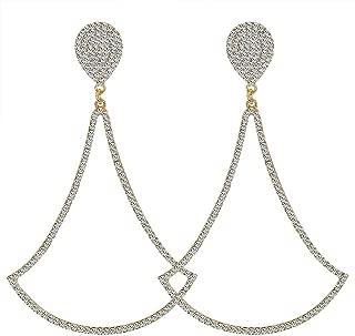 Fashion Cluster Étoiles Oreille Chaîne Zircon Noir Argent Or Tassel Boucles d/'oreilles