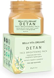 Bella Vita Organic De Tan Removal Face Pack For Glowing Skin, Oil Control, Acne, Pimples, Blemishes, Pigmentation & Bright...
