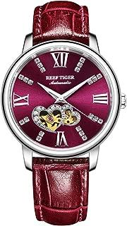 Luxury Brand Ladies Watch Automatic Women Diamond Watches Waterproof Leather Band RGA1580