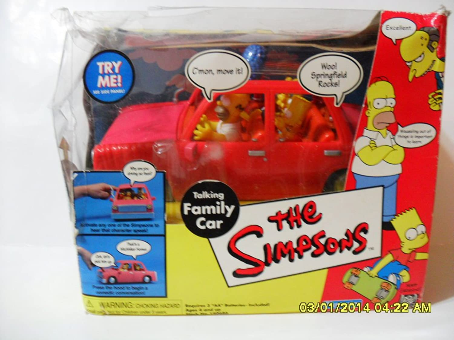 The Simpsons World of Springfield Talking Family Car