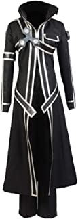 Men's Sword Art Online Kirito Cosplay Costume Battle Suit Black