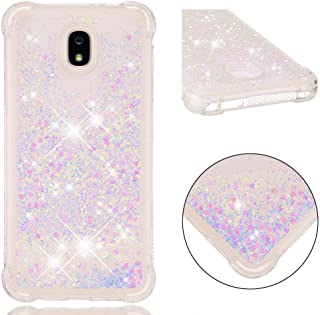 Galaxy J7 2018 Case,Galaxy J7 Refine Case,Galaxy J7 Star Case,Galaxy J7 V J7V 2nd Gen Case, Ankoe Shockproof Flowing Liquid Sparkle Flexible Protective Case for Samsung Galaxy J7 2018 (Colorful)