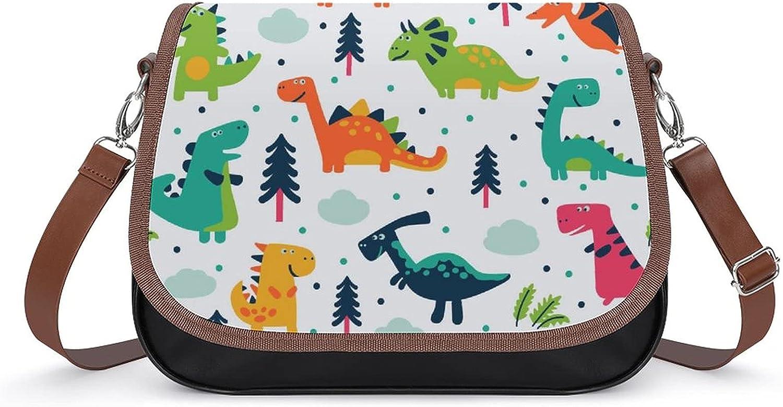 Shoulder Bag Branded goods Funny Max 88% OFF Dinosaurs Cartoon Messeng Pattern Tree Forest