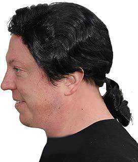 Men's Black Ponytail Wig Fiction Costume Wig