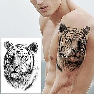 Leeuw Pioen Tijdelijke Tattoo Mannen Vrouwen Tijger Vos Tattoo Sticker Zwart Kompas Waterdichte Tattoo Cosmetics-GTH085X