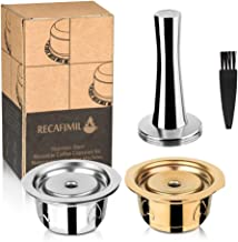 i Cafilas Refillable Coffee Capsule for Nespresso Vertuoline Made of Stainless Steel, Reusable Coffee Capsules for Nespres...