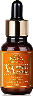Vitamin C Serum 1oz L-Ascorbic Acid 15% + Vitamin B5 - Korean Skin Care for Fades Age Spots and Sun Damage + Dark Spots an...