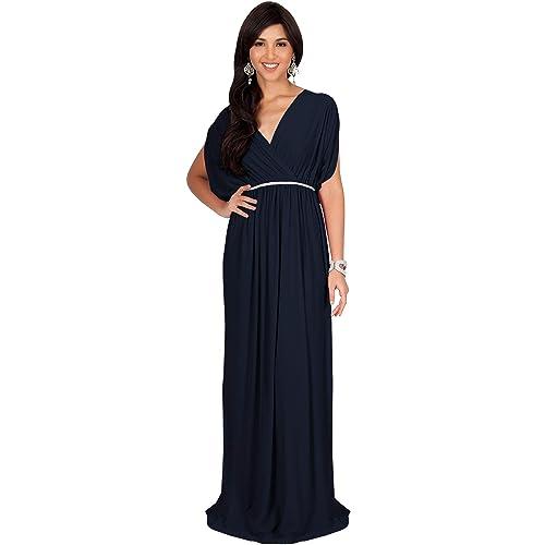 eb0560a1b8 KOH KOH Womens Long Dolman Sleeve Wrap V-Neck Maternity Bridesmaid Maxi  Dress