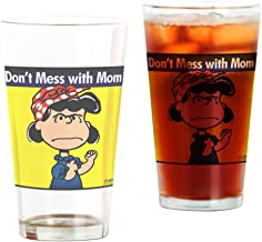 CafePress Don't Mess With Mom Pint Glass, 16 oz. Drinking Glass