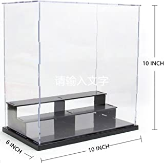 KENGEL 10x6x10 Inch Assembly Transparent Clear Acrylic Toys Three layers Display Dustproof Protection Showcase Case Box