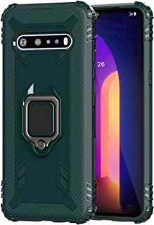 Dzxouui Compatible for LG V60 ThinQ Case,TPU Shockproof Defender Protective Cover 360°Ring Holder Kickstand Anti Impact Sc...