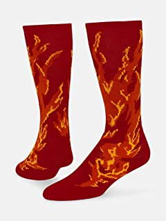 Flame Knee-high Sock (Red - Small)
